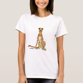 Irish Wolfhound Illustration by Gina Barbosa T-Shirt