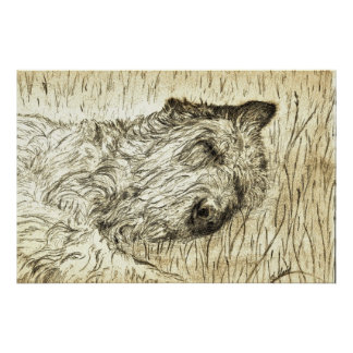 "Irish Wolfhound ""Let sleeping dogs lie"" Poster"
