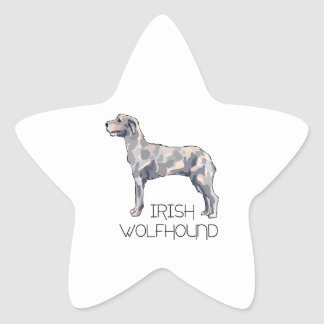 IRISH WOLFHOUND LETTERS STAR STICKERS