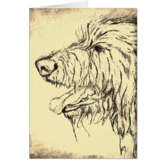 Irish Wolfhound looking pleased Greeting Card