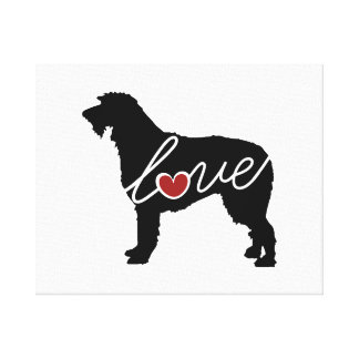 Irish Wolfhound Love Gallery Wrapped Canvas