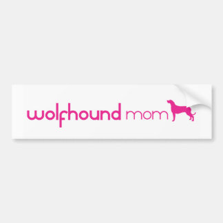 Irish Wolfhound Mom Bumper Sticker