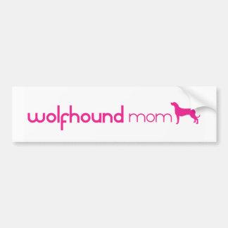 Irish Wolfhound Mom Car Bumper Sticker