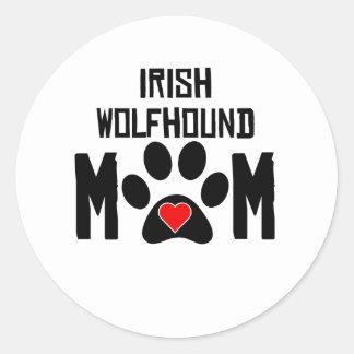 Irish Wolfhound Mom Stickers