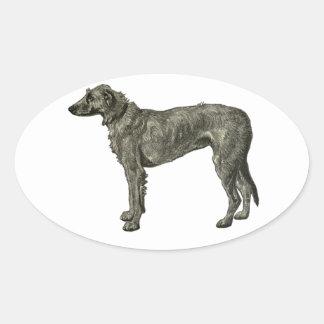 Irish wolfhound oval sticker