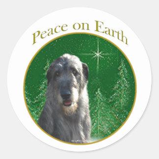 Irish Wolfhound Peace Stickers