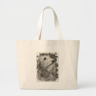 Irish Wolfhound perfect pose Tote Bags