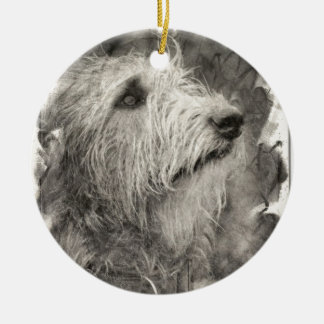 Irish Wolfhound perfect pose Christmas Ornament
