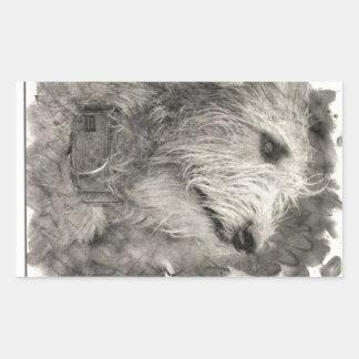 Irish Wolfhound perfect pose Rectangular Sticker