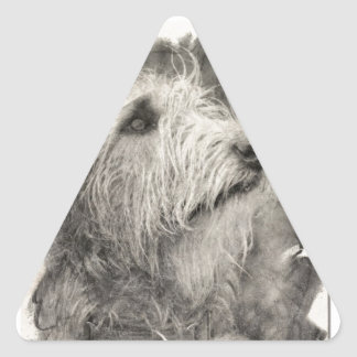 Irish Wolfhound perfect pose Stickers