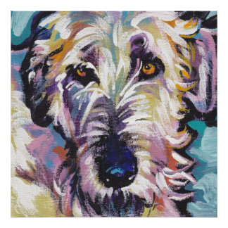 Irish Wolfhound Pop Art Print