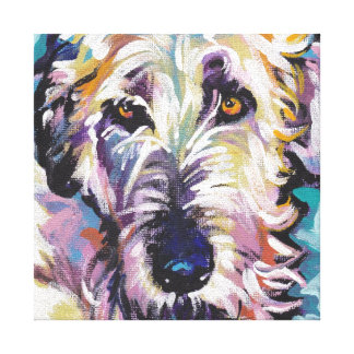 Irish Wolfhound Pop Dog Art on Wrapped Canvas Stretched Canvas Prints