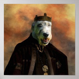 Irish Wolfhound Poster Nobility Dogs Gift