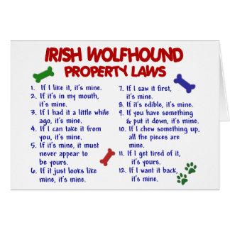 IRISH WOLFHOUND Property Laws 2 Card