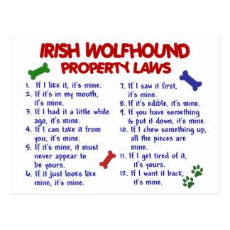 IRISH WOLFHOUND Property Laws 2 Postcard