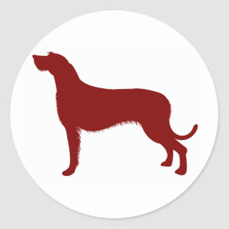 Irish Wolfhound (Red) Classic Round Sticker
