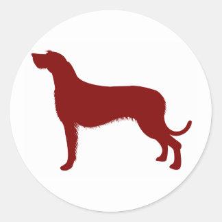 Irish Wolfhound (Red) Round Sticker