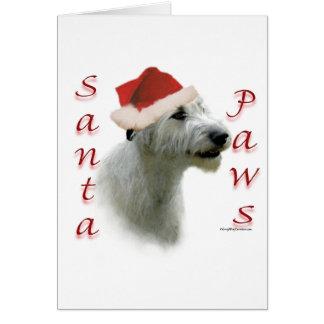 Irish Wolfhound Santa Paws Greeting Card