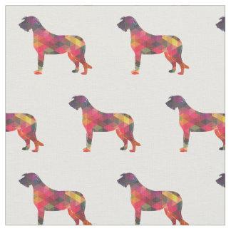 Irish Wolfhound Silhouette Tiled Fabric - Multi
