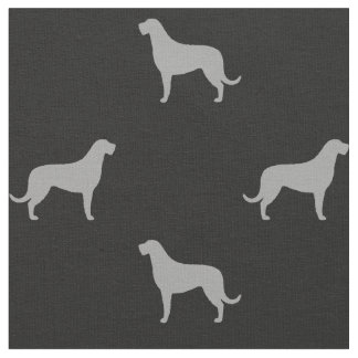 Irish Wolfhound Silhouettes Pattern Fabric