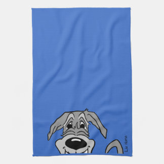 Irish Wolfhound Smile Tea Towel