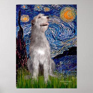 Irish Wolfhound - Starry Night (Vert) Posters