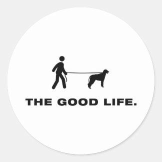 Irish Wolfhound Round Stickers