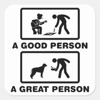 Irish Wolfhound Square Stickers