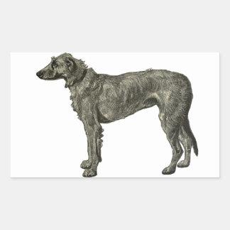 Irish wolfhound rectangle stickers