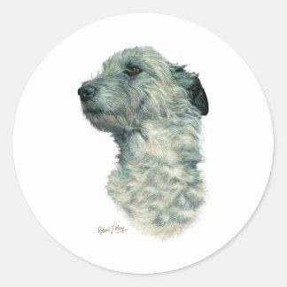 Irish Wolfhound Round Sticker