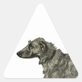 Irish wolfhound triangle sticker