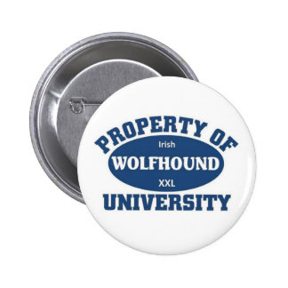 Irish Wolfhound University 6 Cm Round Badge