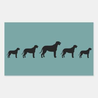 Irish Wolfhounds Rectangle Sticker