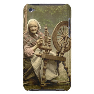 Irish Woman and Spinning Wheel 1890 Barely There iPod Case