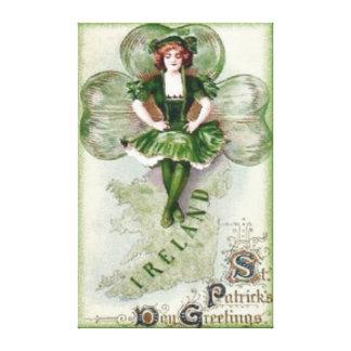 Irish Woman Ireland Shamrock Riverdance Canvas Print