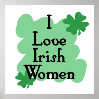 irish women print
