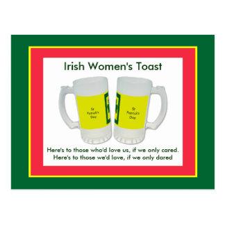 Irish Women's Toast The MUSEUM Zazzle Postcard