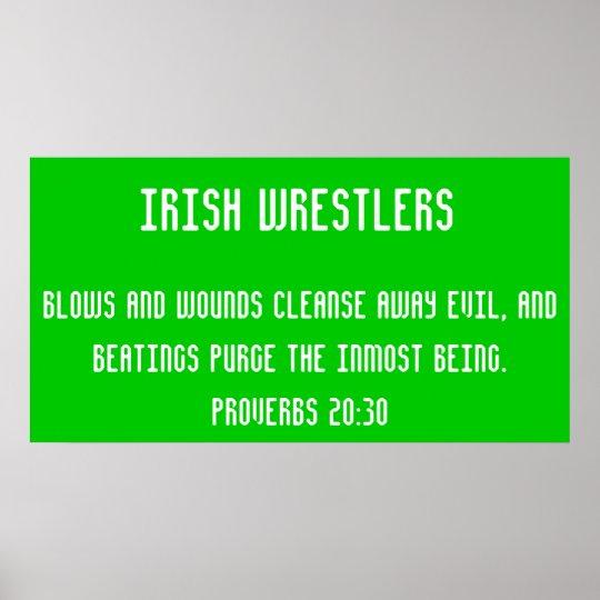 Irish wrestlers poster