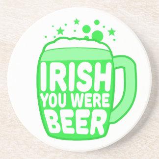 Irish You Were Beer Drink Coasters