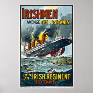 Irishmen Avenge the Lusitania Extra Large Poster