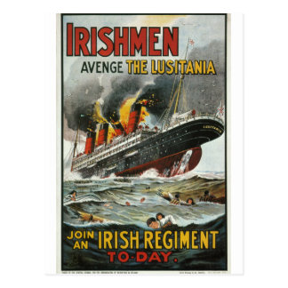 Irishmen avenge the Lusitania_Propaganda Poster Postcard