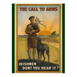 Irishmen: Don't You Hear It? Postcard