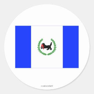 Irkutsk Oblast Flag Classic Round Sticker