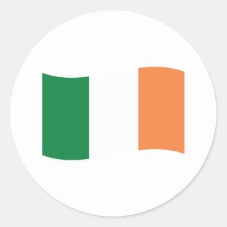 irland flag classic round sticker