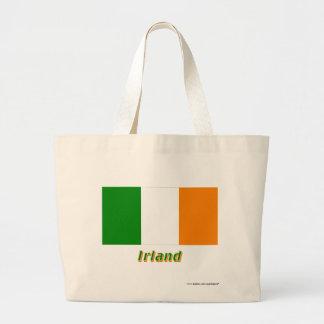 Irland Flagge mit Namen Tote Bags