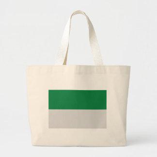 irland green white jumbo tote bag