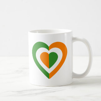 irlanda-heart basic white mug