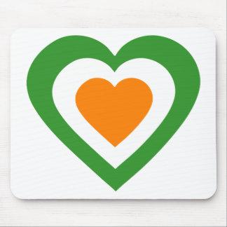 irlanda-heart mouse pads