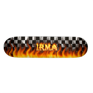 Irma skateboard fire and flames design.