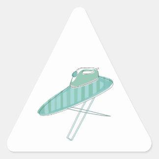 Iron and Board Triangle Sticker
